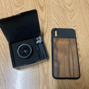 MOMENT LENS with iPhone XS Max Case, Black/Wood